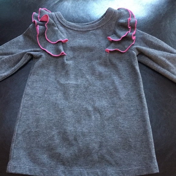 2c6191d0ff Cat   Jack Other - Cat   Jack pink   gray long sleeve ruffle dress